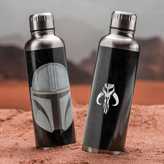 The Mandalorian Metal Water Bottle