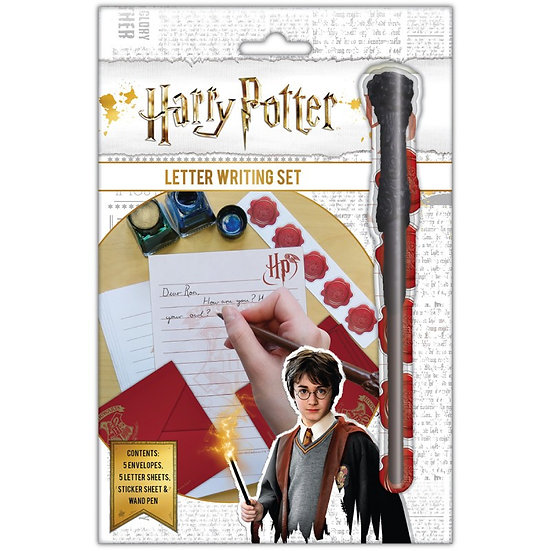 Harry Potter Letter Writing Set with Wand Pen