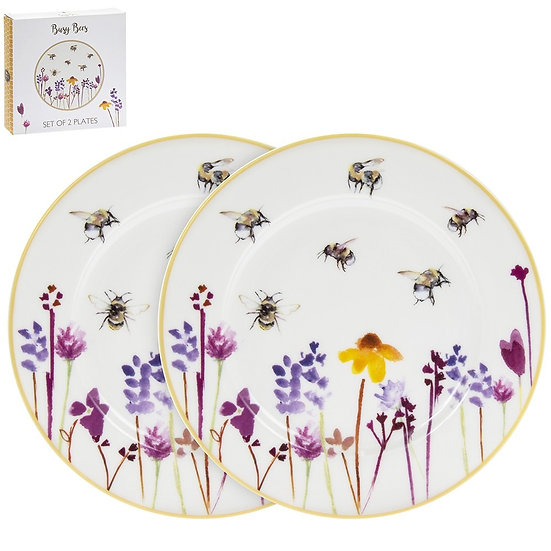 Busy Bees Set of 2 Plates