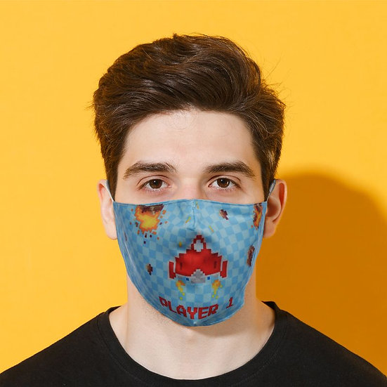Game Over Reusable Face Mask - Large