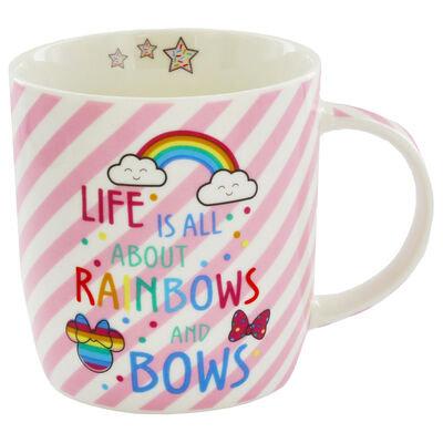 Disney Minnie Mouse Pink Stripe Mug