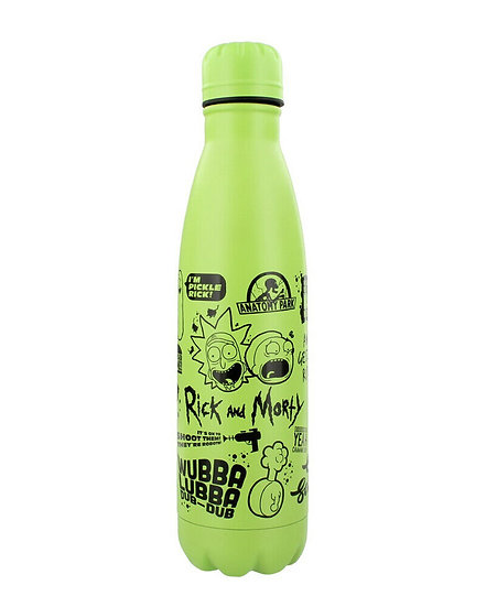 Rick and Morty Quotes Metal Drinks Bottle