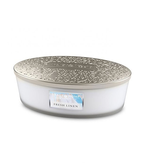 Heart & Home Fresh Linen - 4 Wick Ellipse Candle