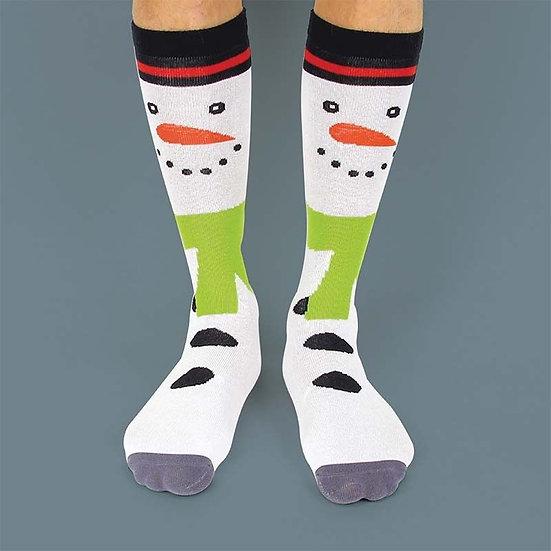 Snowman Festive Socks - size 3-7