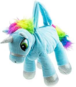 Unicorn Plush Handbag - Blue