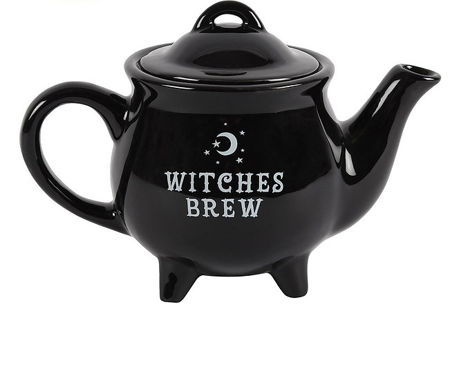 Witches Brew Black Teapot