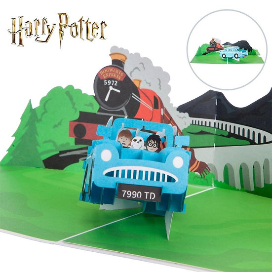 Harry Potter Ford Anglia Pop Up Card