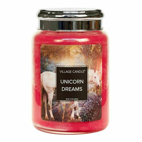 Village Candle Unicorn Dreams - 26oz Large Candle Jar