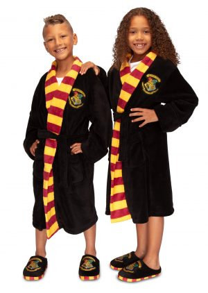 Harry Potter Hogwarts Kids Bathrobe - L 10-12yrs