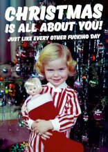 All About You Rude Christmas Card