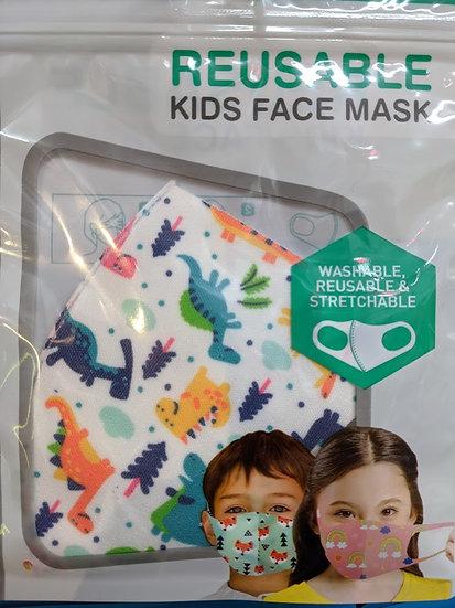 Kids Reusable Face Mask - Dinosaur