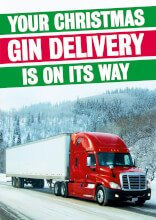 Gin Delivery Funny Christmas Card