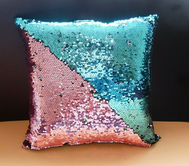 Mermaid Reversible Sequin Cushion