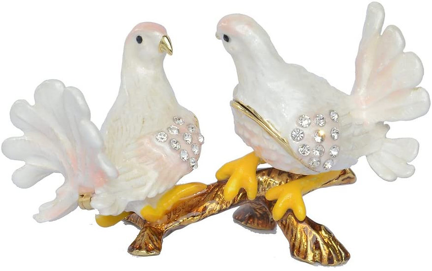 Pair of Love Doves Treasured Trinket