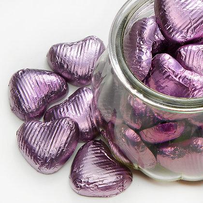 Foiled Chocolate Heart Lilac