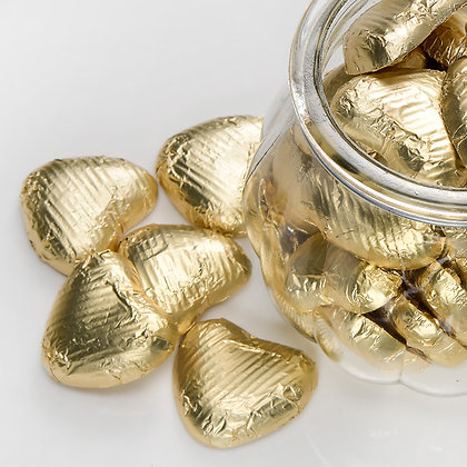 Foiled Chocolate Heart Gold