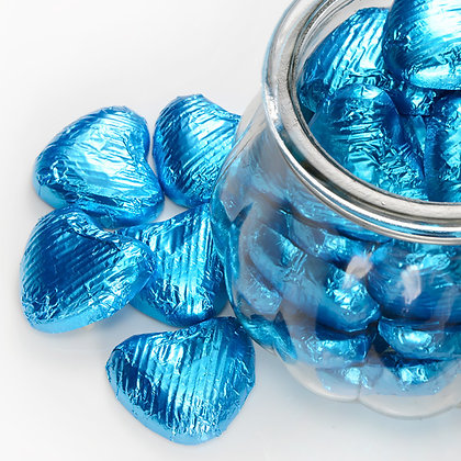 Foiled Chocolate Heart Turquoise