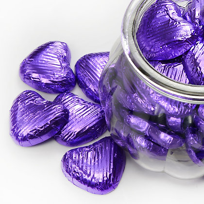 Foiled Chocolate Heart Purple