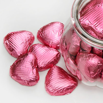 Foiled Chocolate Heart Baby Pink