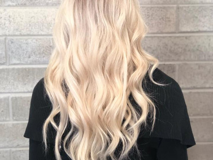 styled hair