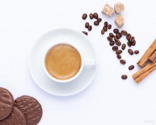 Flatlay coffee