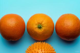 Spiked orange