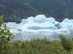Ice in the lake at Spencer Glacier