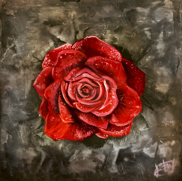 """The Rose That Grew From Concrete"" (SOLD)"