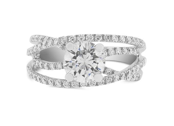 Cross Over Style Diamond Ring