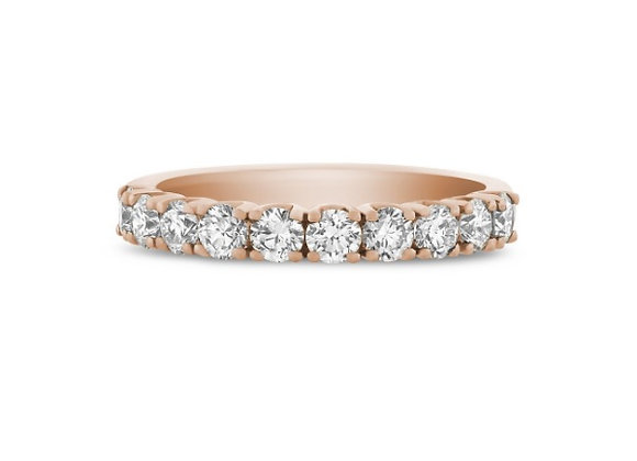 Rose Gold Diamond Half Eternity Ring