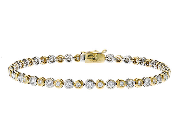 18ct White Gold & Yellow Diamond Bracelet