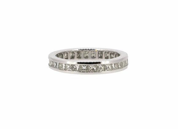 Princess Cut Half Eternity Diamond Ring