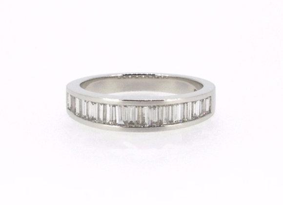 Baguette Cut Half Eternity Ring