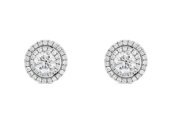 0.30ct Diamond Double Halo Studs