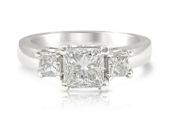 Princess Cut Trilogy Ring