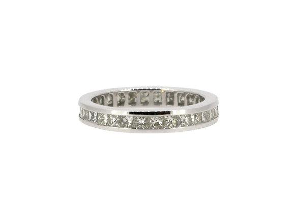 Princess Cut Full Eternity Diamond Ring