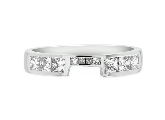 Princess Cut Half Eternity Ring
