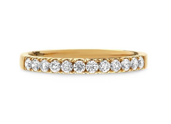 18ct Yellow Gold and Diamond Half Eternity Ring