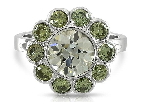Fancy Grey Diamond Ring