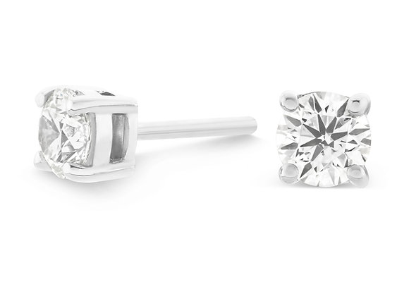 2.07ct Round Cut Diamond Studs