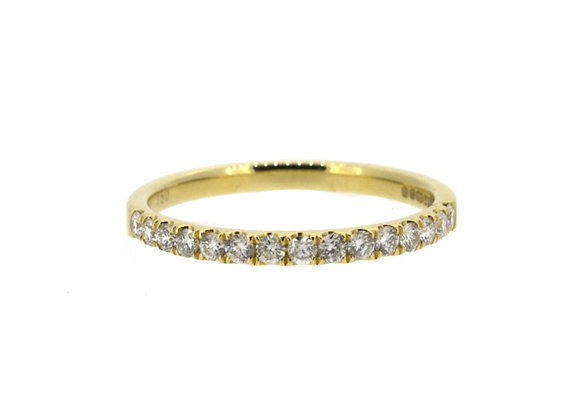 Round Cut Half Eternity Diamond Ring