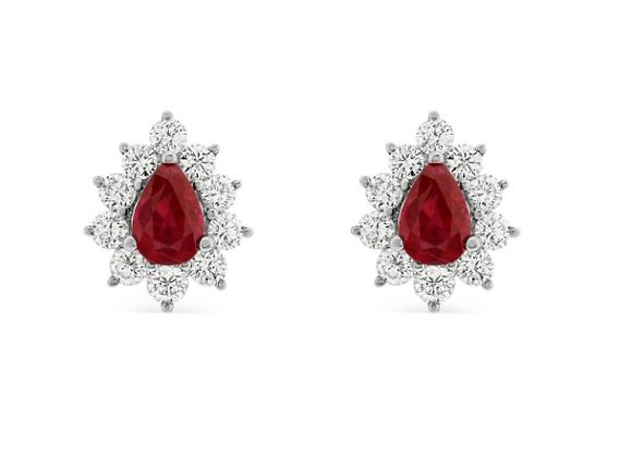 1.40ct Ruby and Diamond Studs
