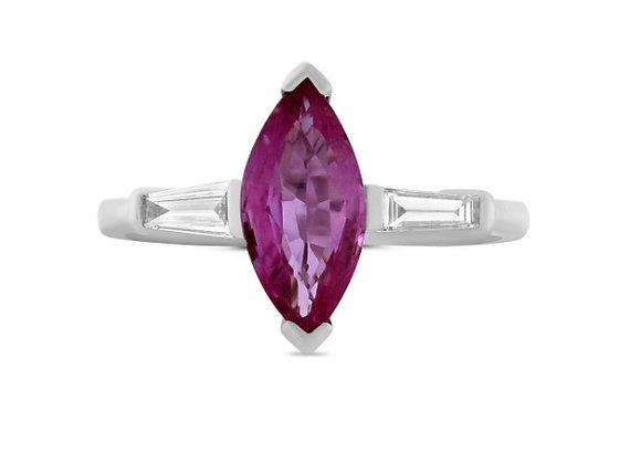 Marquise Pink Sapphire Ring