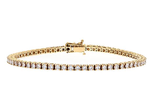 18ct Rose Gold and Diamond Tennis Bracelet