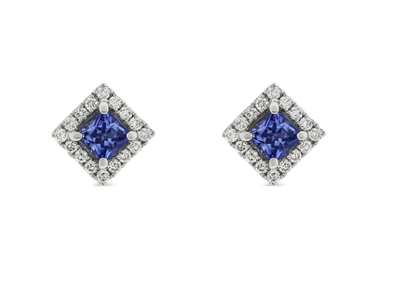 Sapphire and Diamond Studs