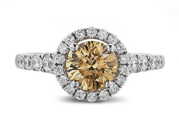 Round Cut NFYB Diamond Halo Ring