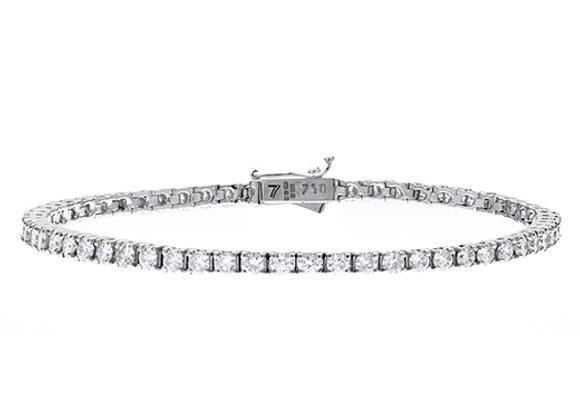 18ct White Gold Diamond Tennis bracelet