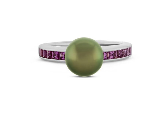 Pearl and Pink Sapphire Ring