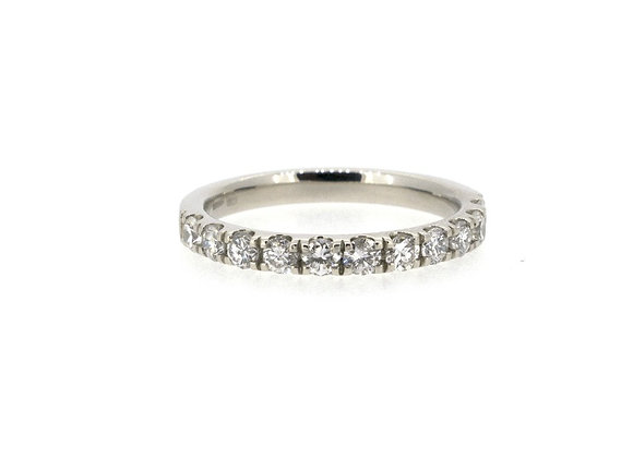 Platinum and Diamond Half Etenity Ring