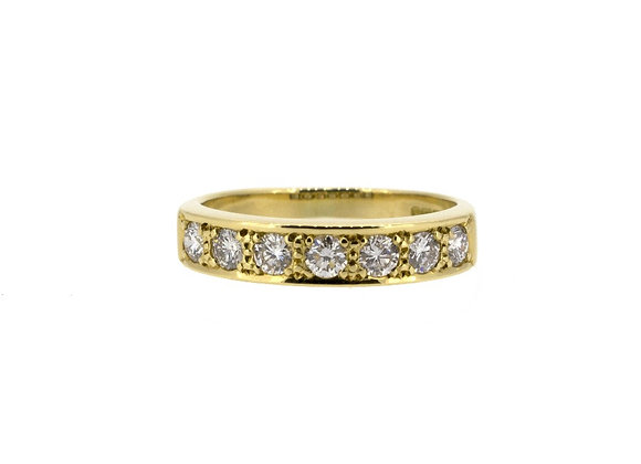 Yellow Gold and Diamond Half Eternity Ring